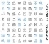 reminder icons set. collection... | Shutterstock .eps vector #1318235198