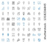 vanilla icons set. collection... | Shutterstock .eps vector #1318236845