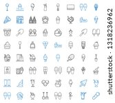 scoop icons set. collection of... | Shutterstock .eps vector #1318236962