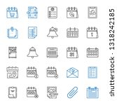 reminder icons set. collection... | Shutterstock .eps vector #1318242185