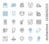 pin icons set. collection of... | Shutterstock .eps vector #1318242215