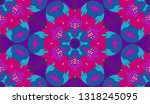 whimsical ethnic seamless... | Shutterstock .eps vector #1318245095