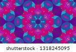 whimsical ethnic seamless...   Shutterstock .eps vector #1318245095