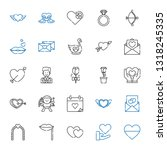 romance icons set. collection... | Shutterstock .eps vector #1318245335