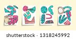 set of minimal cover templates... | Shutterstock .eps vector #1318245992