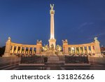 heroes square by night in... | Shutterstock . vector #131826266