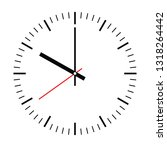 clock face. blank hour dial... | Shutterstock .eps vector #1318264442