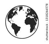 vector globe icon of the world | Shutterstock .eps vector #1318266578