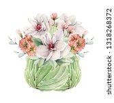 handpainted watercolor spring... | Shutterstock . vector #1318268372