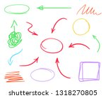 multicolored set of hand drawn... | Shutterstock .eps vector #1318270805