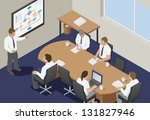 business meeting in an office.... | Shutterstock .eps vector #131827946