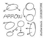 hand drawn and doodle arrows | Shutterstock .eps vector #1318287398