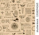 vector seamless background on... | Shutterstock .eps vector #1318294265