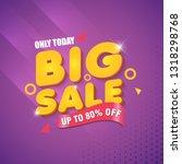 big sale banner designs... | Shutterstock .eps vector #1318298768
