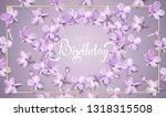happy birthday gift card... | Shutterstock .eps vector #1318315508