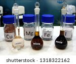 chemical substances in glass... | Shutterstock . vector #1318322162