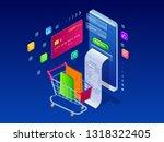 online shopping  sale ... | Shutterstock .eps vector #1318322405