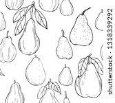 hand drawn pears. vector ... | Shutterstock .eps vector #1318339292