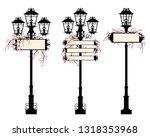 elegant street lights with... | Shutterstock .eps vector #1318353968