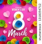international happy women's day ... | Shutterstock .eps vector #1318354712