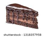 piece of tasty chocolate cake... | Shutterstock . vector #1318357958