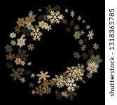 winter snowflakes border magic... | Shutterstock .eps vector #1318365785