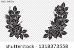 rose ornament vector by hand...   Shutterstock .eps vector #1318373558