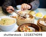 delicious cantonese dim sum on... | Shutterstock . vector #1318374098
