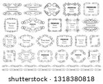 calligraphic design elements ... | Shutterstock .eps vector #1318380818