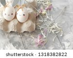 easter decoration for home ... | Shutterstock . vector #1318382822
