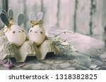 easter decoration for home ... | Shutterstock . vector #1318382825