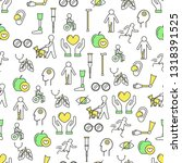 vector seamless pattern with... | Shutterstock .eps vector #1318391525