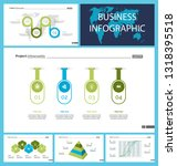 set of analysis or marketing... | Shutterstock .eps vector #1318395518