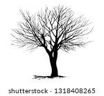 tree silhouettes on white... | Shutterstock .eps vector #1318408265