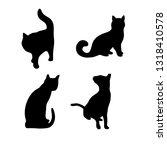 vector image of black cats... | Shutterstock .eps vector #1318410578