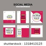 modern promotion square web... | Shutterstock .eps vector #1318413125
