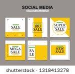 modern promotion square web... | Shutterstock .eps vector #1318413278