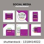 modern promotion square web... | Shutterstock .eps vector #1318414022