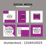 modern promotion square web... | Shutterstock .eps vector #1318414025