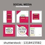 modern promotion square web... | Shutterstock .eps vector #1318415582