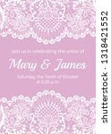 wedding invitation template... | Shutterstock . vector #1318421552