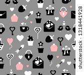 seamless vector black  white... | Shutterstock .eps vector #1318441928