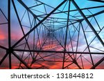high voltage post.high voltage... | Shutterstock . vector #131844812