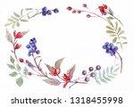 beautiful wreath. elegant... | Shutterstock . vector #1318455998