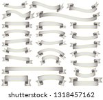 white ribbons collection | Shutterstock .eps vector #1318457162