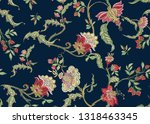 fantasy floral seamless pattern ...