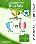 soccer banner menu   Shutterstock .eps vector #1318468535