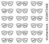 set of eyeglasses with...   Shutterstock .eps vector #1318472468