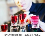 young professional barman in... | Shutterstock . vector #131847662