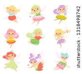 cute little fairies in colorful ...   Shutterstock .eps vector #1318498742